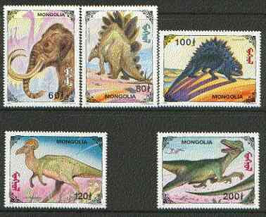 Mongolia 1994 Prehistoric Animals set of 5 unmounted mint SG 2480-84*