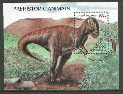 Somalia 1999 Dinosaurs perf m/sheet cto used