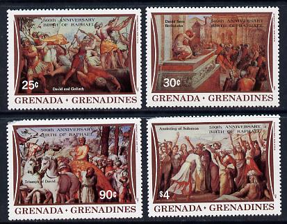 Grenada - Grenadines 1983 500th Anniversary of Raphael set of 4 unmounted mint SG 542-5
