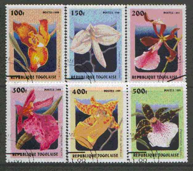 Togo 1999 Orchids set of 6 fine cto used*