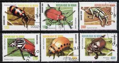 Benin 2000 Insects PERF set of 6 fine cto used*