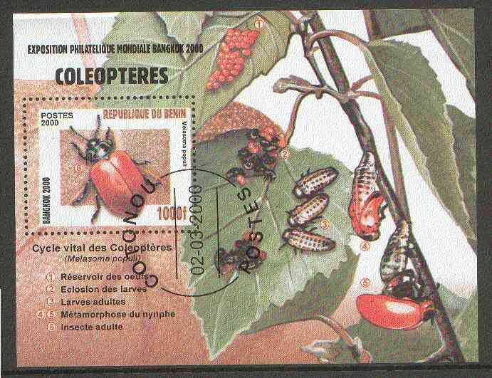 Benin 2000 Insects (Bangkok 2000 Stamp Exhibition) perf m/sheet fine cto used