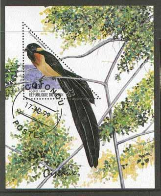 Benin 1999 Birds (triangular stamp) perf m/sheet fine cto used