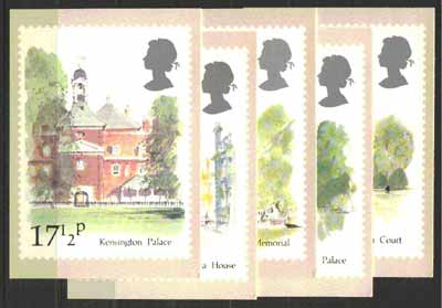 Great Britain 1980 London Landmarks set of 5 PHQ cards unused and pristine