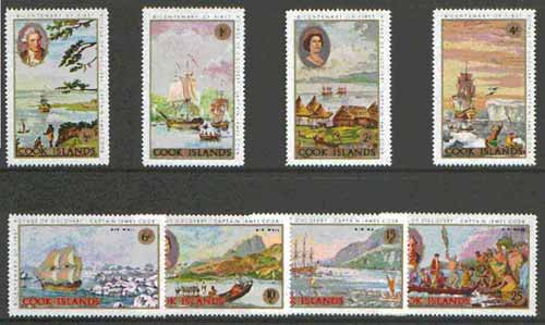 Cook Islands 1968 Captain Cook's First Vogage set of 8 unmounted mint, SG 269-76*