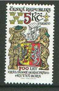 Czech Republic 2000 Royal Mining Law 700th Anniversary unmounted mint*, stamps on mining, stamps on law, stamps on arms, stamps on heraldry, stamps on  law , stamps on
