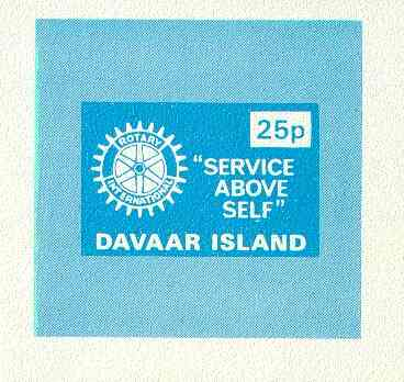 Davaar Island 1973 Rotary Clubs 25p imperf m/sheet unmounted mint