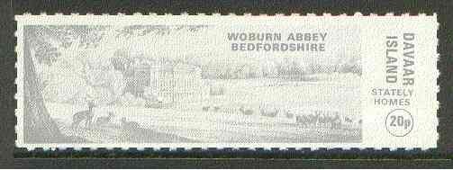Davaar Island 1973 Woburn Abbey 20p grey Rouletted without tab unmounted mint*