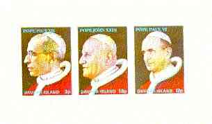Davaar Island 1973 Popes (Pius XII, John XXIII & Paul VI) imperf m/sheet unmounted mint