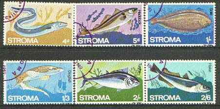 Stroma 1969 Fish complete set of 6 each fine used with Stroma cancel