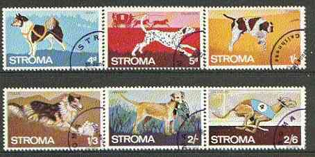 Stroma 1969 Dogs complete set of 6 each fine used with Stroma cancel
