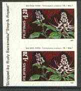 Philippines 1985 Medicinal Plants 1p20 (Orthosiphon aristatus) imperf pair on gummed wmk