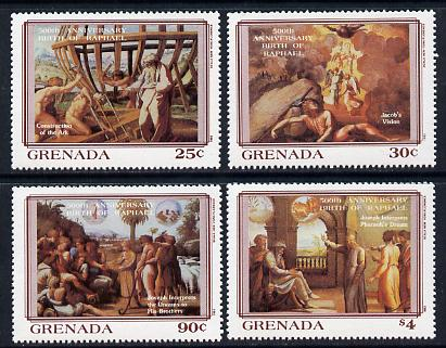 Grenada 1983 500th Anniversary of Raphael set of 4 unmounted mint SG 1237-40