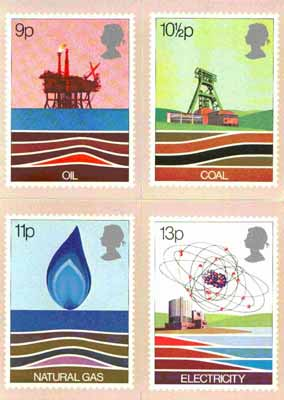 Great Britain 1978 Energy Resources set of 4 PHQ cards unused and pristine