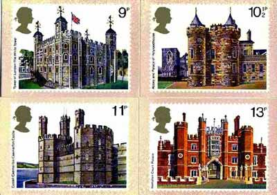 Great Britain 1978 British Architecture (Historic Buildings) set of 4 PHQ cards unused and pristine