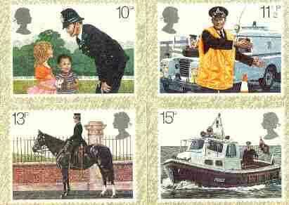 Great Britain 1979 Metropolitan Police 150th Anniversary set of 4 PHQ cards unused and pristine
