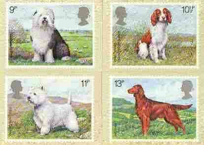 Great Britain 1979 Dogs set of 4 PHQ cards unused and pristine