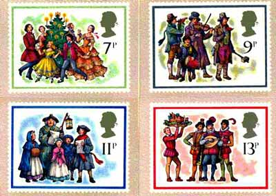 Great Britain 1978 Christmas set of 4 PHQ cards unused and pristine