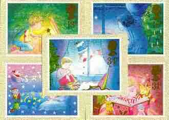 Great Britain 1987 Christmas set of 5 PHQ cards unused and pristine