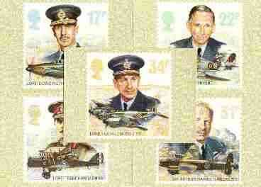 Great Britain 1986 History of the Royal Air Force set of 5 PHQ cards unused and pristine