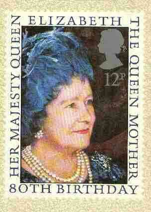 Great Britain 1980 Queen Mother 80th Birthday PHQ card unused and pristine