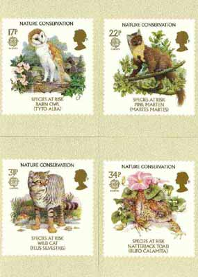 Great Britain 1986 Europa - Nature Conservation set of 4 PHQ cards unused and pristine