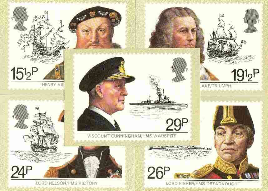 Great Britain 1982 Maritime Heritage set of 5 PHQ cards unused and pristine