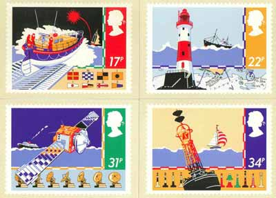 Great Britain 1985 Safety at Sea set of 4 PHQ cards unused and pristine