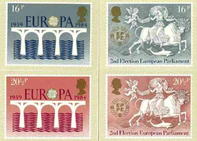 Great Britain 1984 Europa - 25th Anniversary of CEPT set of 4 PHQ cards unused and pristine