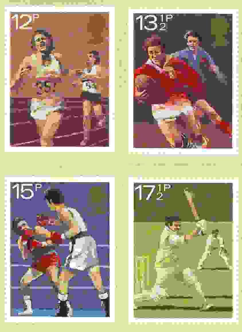 Great Britain 1980 Sport Centenaries set of 4 PHQ cards unused and pristine