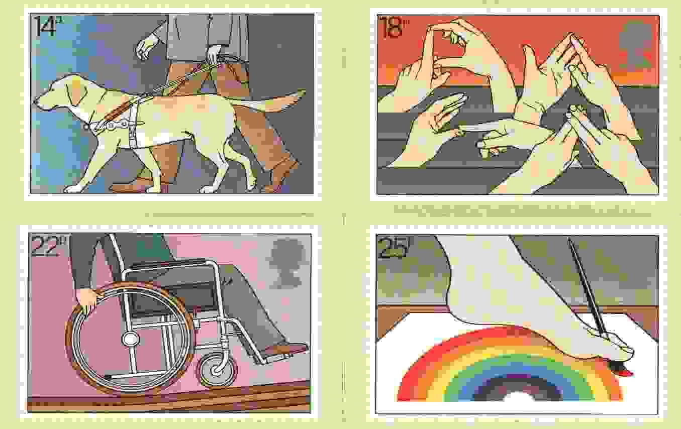 Great Britain 1981 International Year of the Disabled set of 4 PHQ cards unused and pristine
