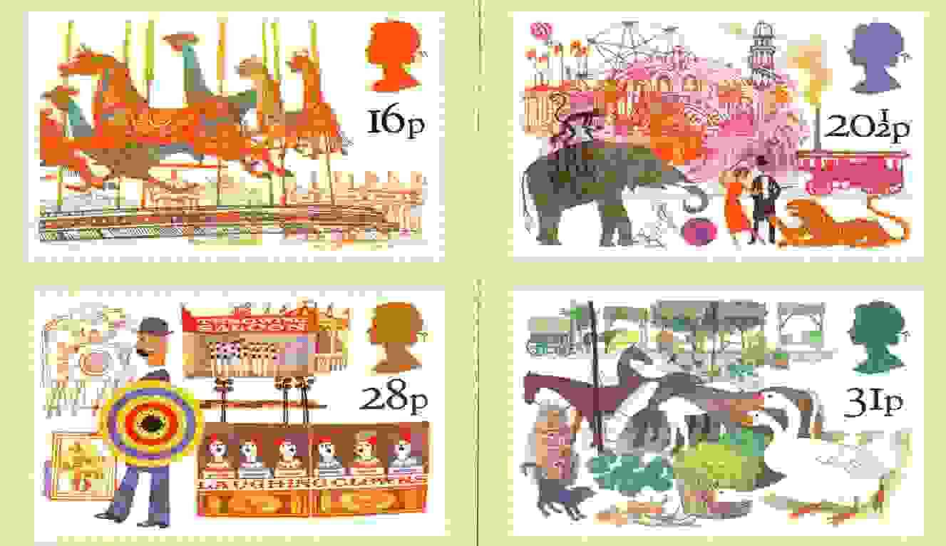 Great Britain 1983 British Fairs set of 4 PHQ cards unused and pristine