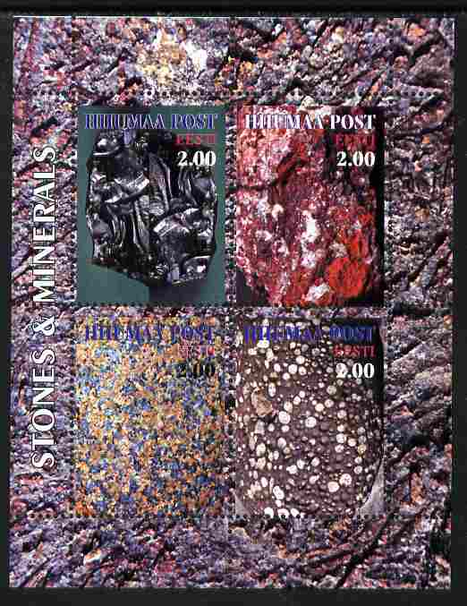 Estonia (Hiiumaa) 2000 Stones & Minerals #02 sheetlet containing set of 4 values unmounted mint