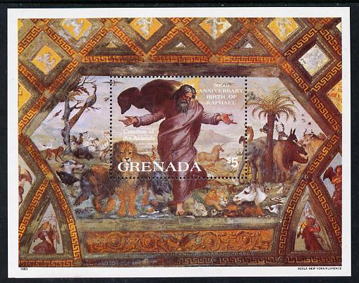Grenada 1983 500th Anniversary of Raphael m/sheet unmounted mint SG MS 1241