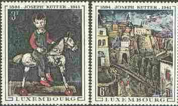 Luxembourg 1969 75th Birth Anniversary of Joseph Kutter (painter) set of 2 unmounted mint, SG 838-39*