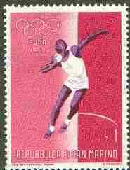 San Marino 1960 Shot Putt 1L (from Olympic Games set) unmounted mint SG 603*