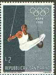 San Marino 1960 Gymnastics 2L (from Olympic Games set) unmounted mint SG 604*