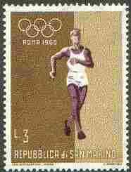 San Marino 1960 Walk 3L (from Olympic Games set) unmounted mint SG 605*