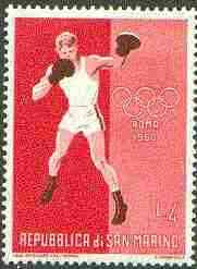 San Marino 1960 Boxing 4L (from Olympic Games set) unmounted mint SG 606*