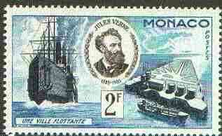Monaco 1955 Floating Island 3c (From Jules Verne set) unmounted mint SG 530*