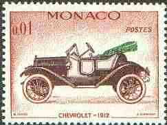 Monaco 1961 Chevrolet 1912 1c (from Veteran Motor Cars set) unmounted mint SG 704*