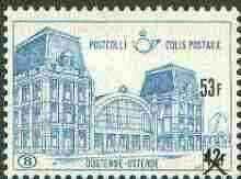 Belgium 1972 Railway Parcels - Ostend Station 53f on 42f blue unmounted mint, SG P2259