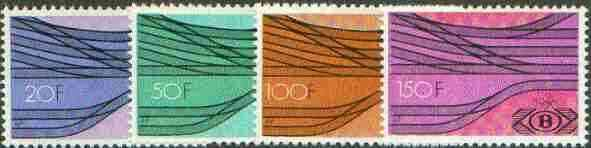 Belgium 1976 Railway Parcels - Railway Junction set of 4 unmounted mint, SG P2431-34*