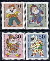 Germany - West Berlin 1970 Humanitarian Relief Fund set of 4 Puppets unmounted mint SG B374-77*