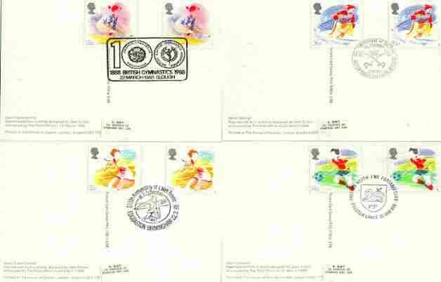 Great Britain 1987 Flower Photographs set of 4 PHQ cards with appropriate stamps each very fine used with first day cancels