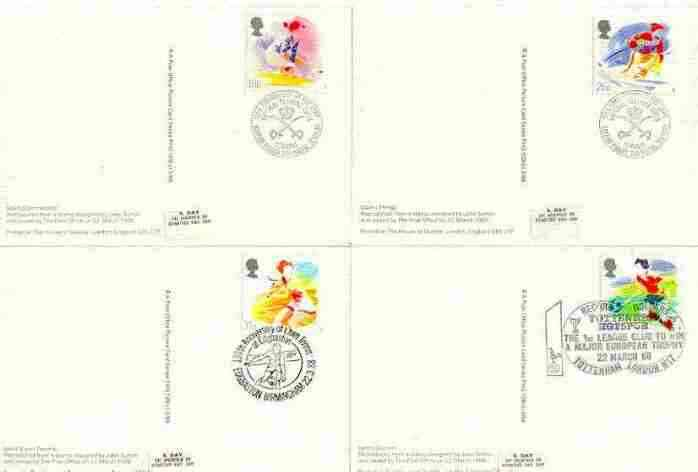 Great Britain 1988 Sports Organisations set of 4 PHQ cards with appropriate stamps each very fine used with first day cancels