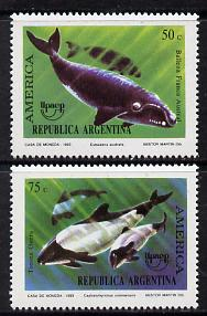 Argentine Republic 1993 Whales set of 2 unmounted mint, SG 2352-53*