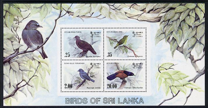 Sri Lanka 1983 Birds - 2nd series m/sheet containing 4 vals unmounted mint, SG MS 831