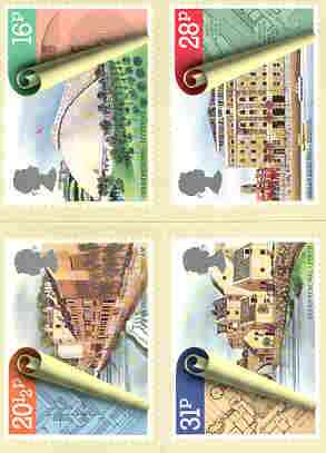 Great Britain 1984 Urban Renewal set of 4 PHQ cards unused and pristine
