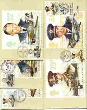 Great Britain 1986 History of the Royal Air Force set of 5 PHQ cards with appropriate stamps each very fine used with first day cancels